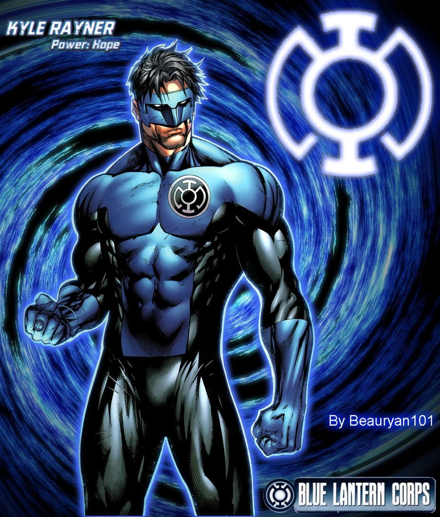 Kyle Rayner Blue Lantern by beauryan101 900x1056