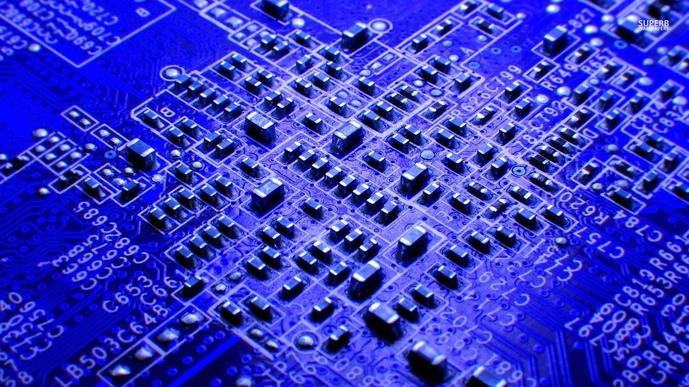 Circuit board wallpaper   Computer wallpapers 1366x768