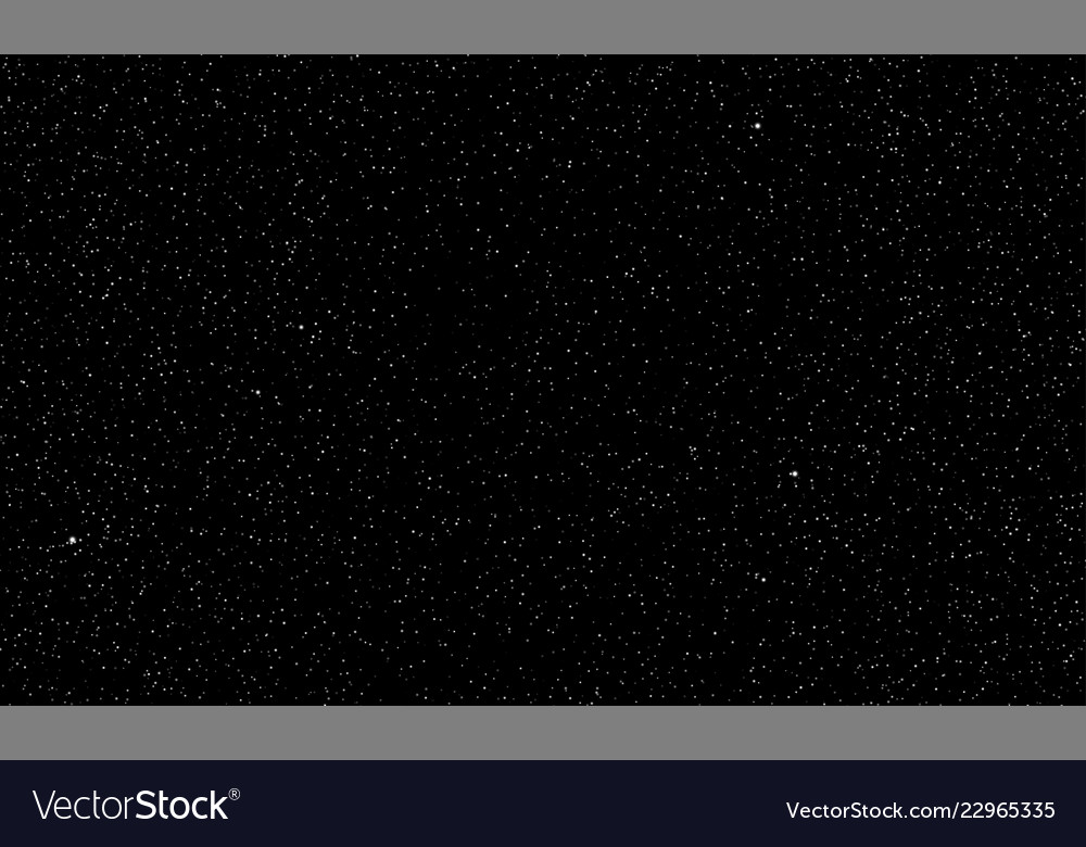 Starry sky stars shine space background Royalty Vector 1000x780