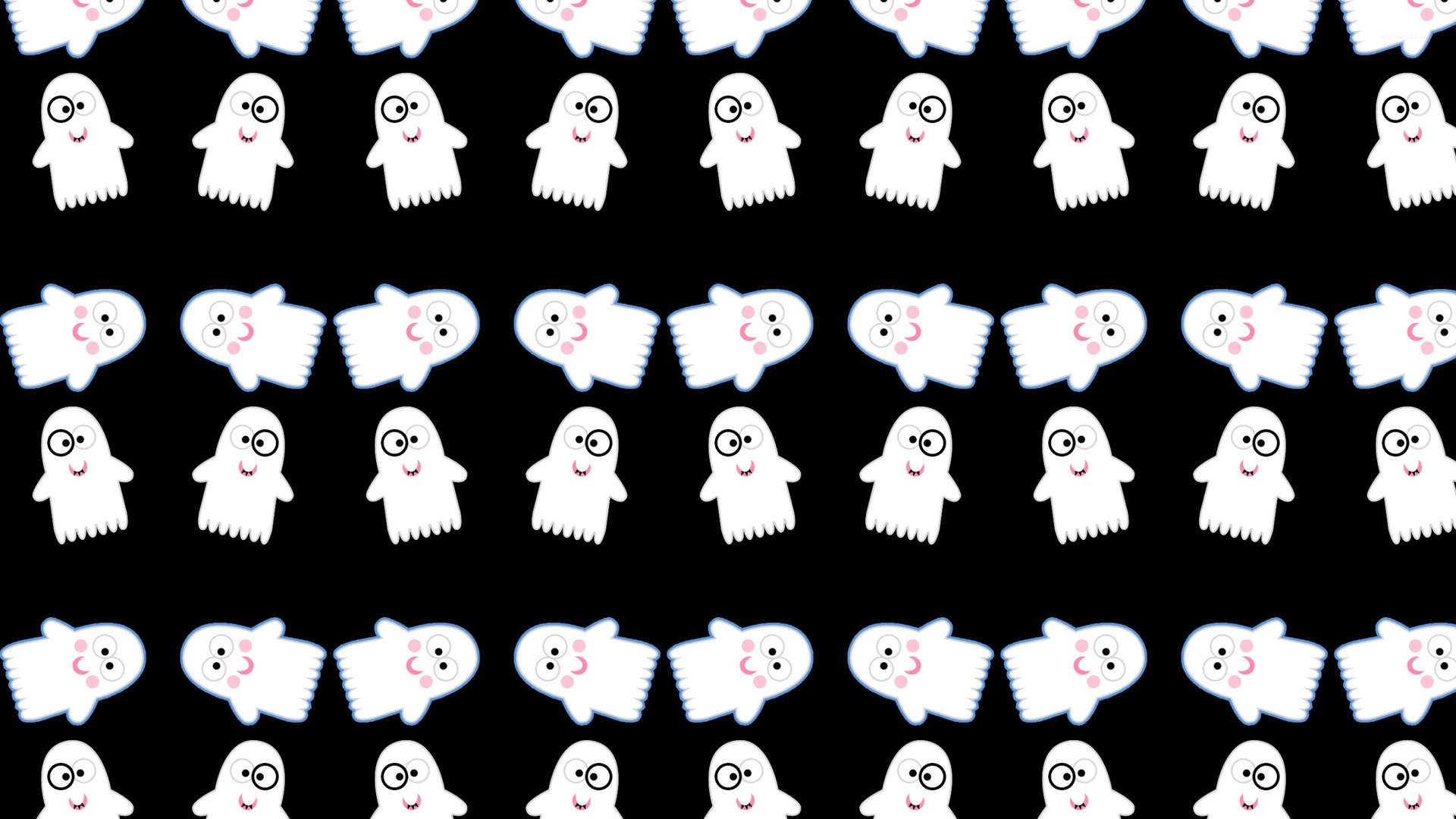 Cute ghost pattern wallpaper   Holiday wallpapers   24315 1920x1080
