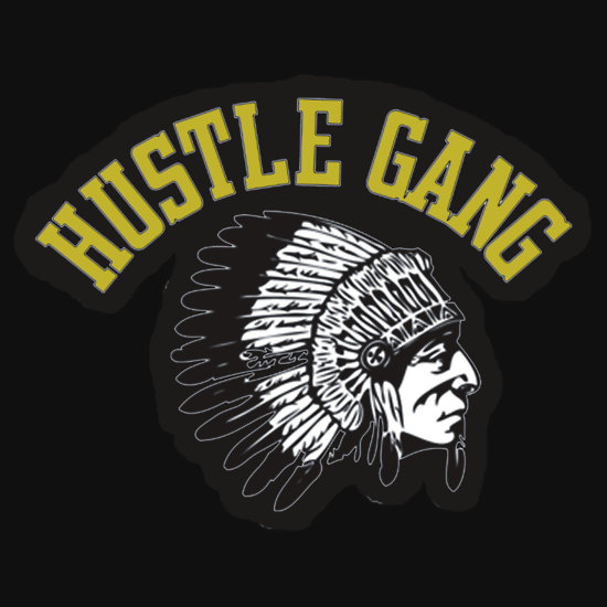 Hustle Gang Gold Long Sleeve T Shirts Hoodies by Manoley 550x550