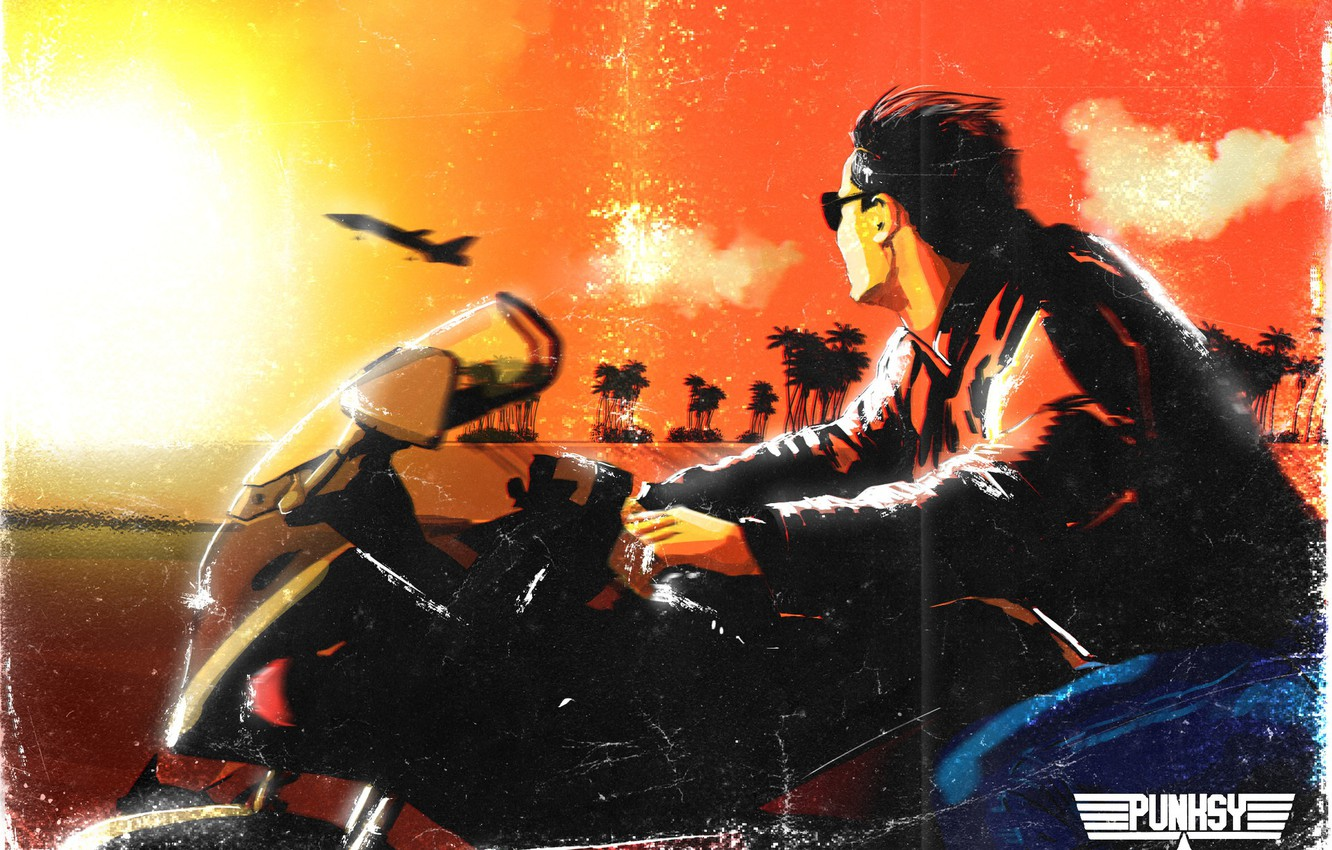 Wallpaper 80s Tom Cruise Illustration 80s Synth Retrowave 1332x850
