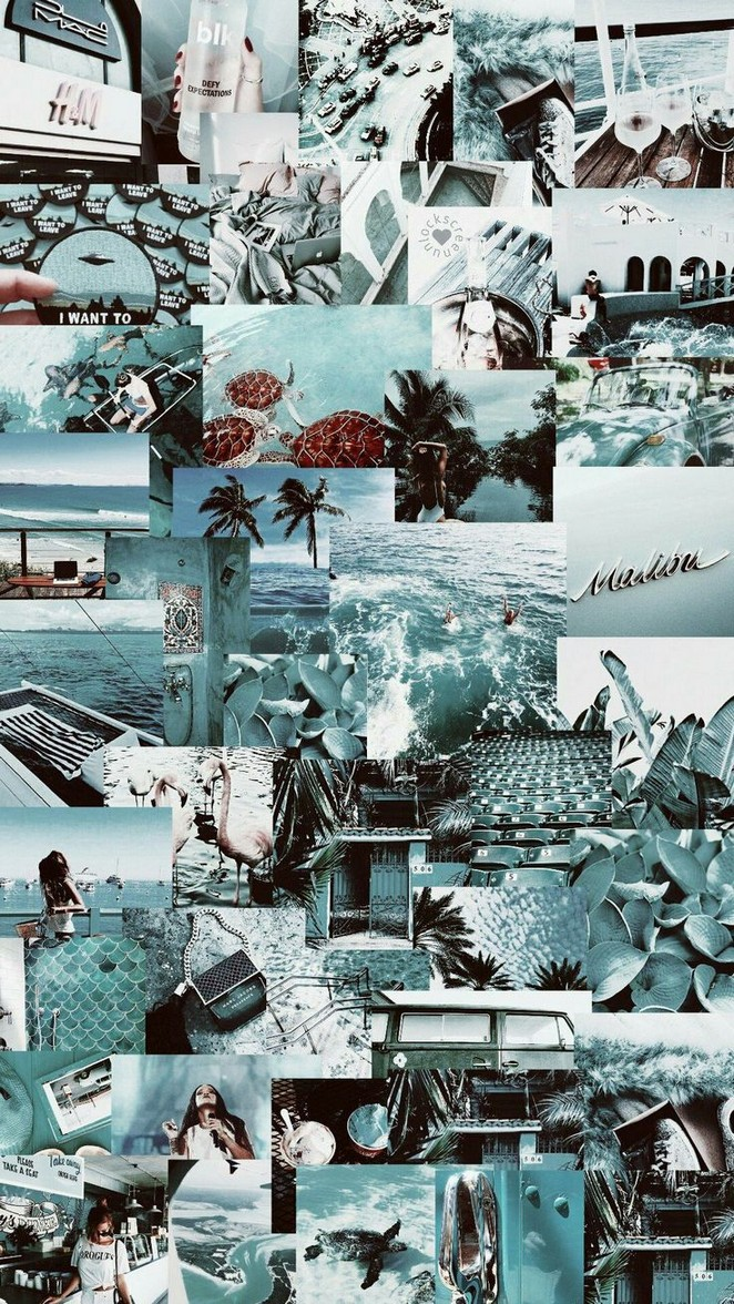 Featured image of post Blue Collage Aesthetic Desktop Wallpaper