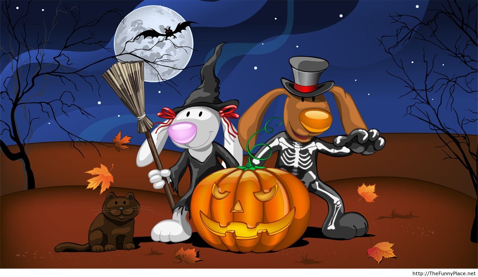 Funny Happy Halloween Wallpapers 6922452 1600x928