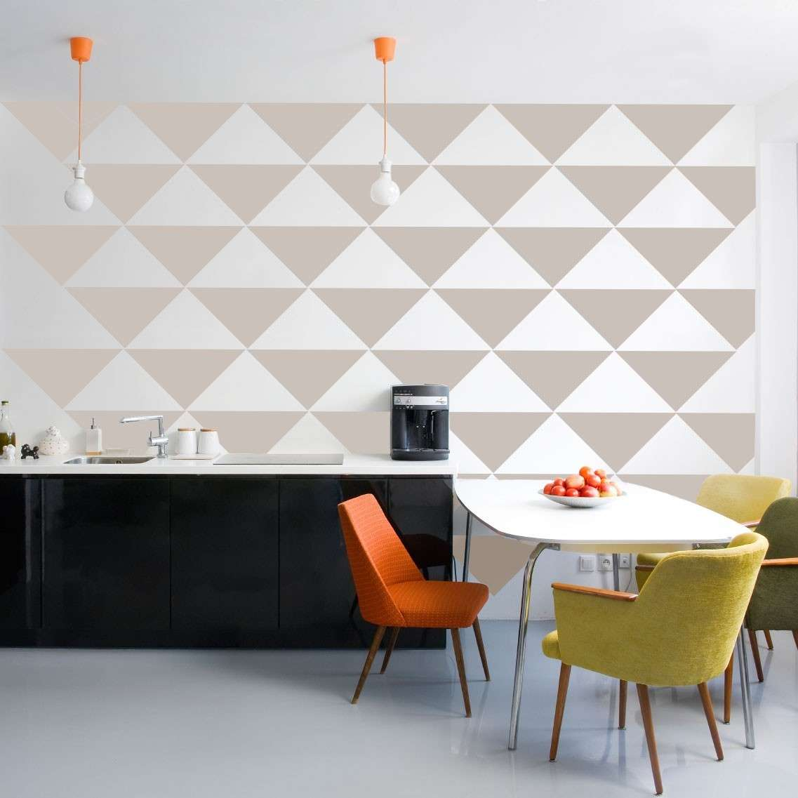 Triangle Wall Pattern Removable Vinyl Wallpaper Pattern   Vinyl Wall 1137x1137