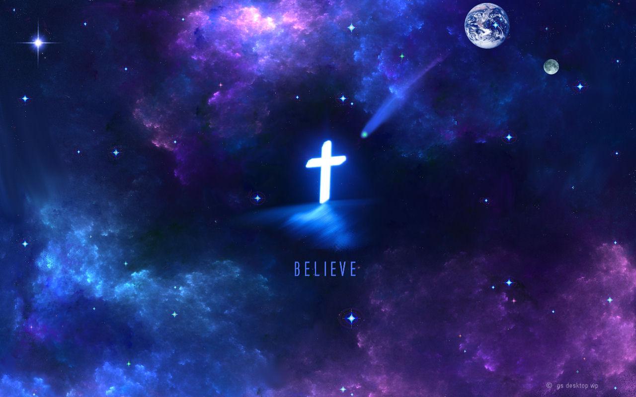 Christian Black Hole Galaxy Cross Jesus Christ Savior God Wallpaper 1280x800