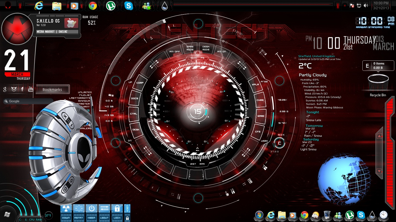 Customizeorg   Download Themes Skins Wallpapers and Icons for 1366x768