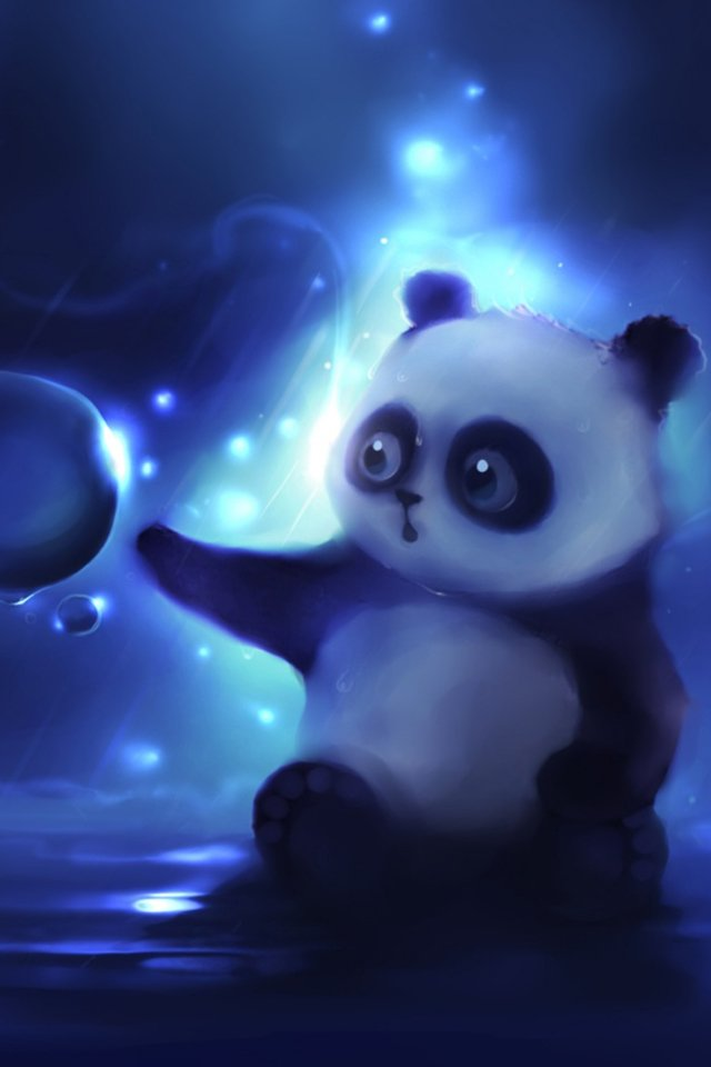 Curious Panda Painting Simply beautiful iPhone wallpapers 640x960