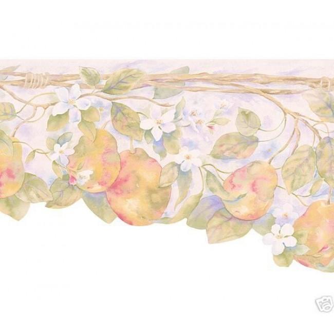 PEARS FRUIT LASER CUT WALLPAPER BORDER   All 4 Walls Wallpaper 650x650