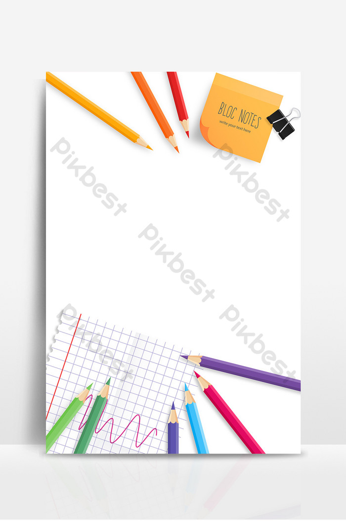 Simple pencil cartoon business fresh education cooperation 700x1053