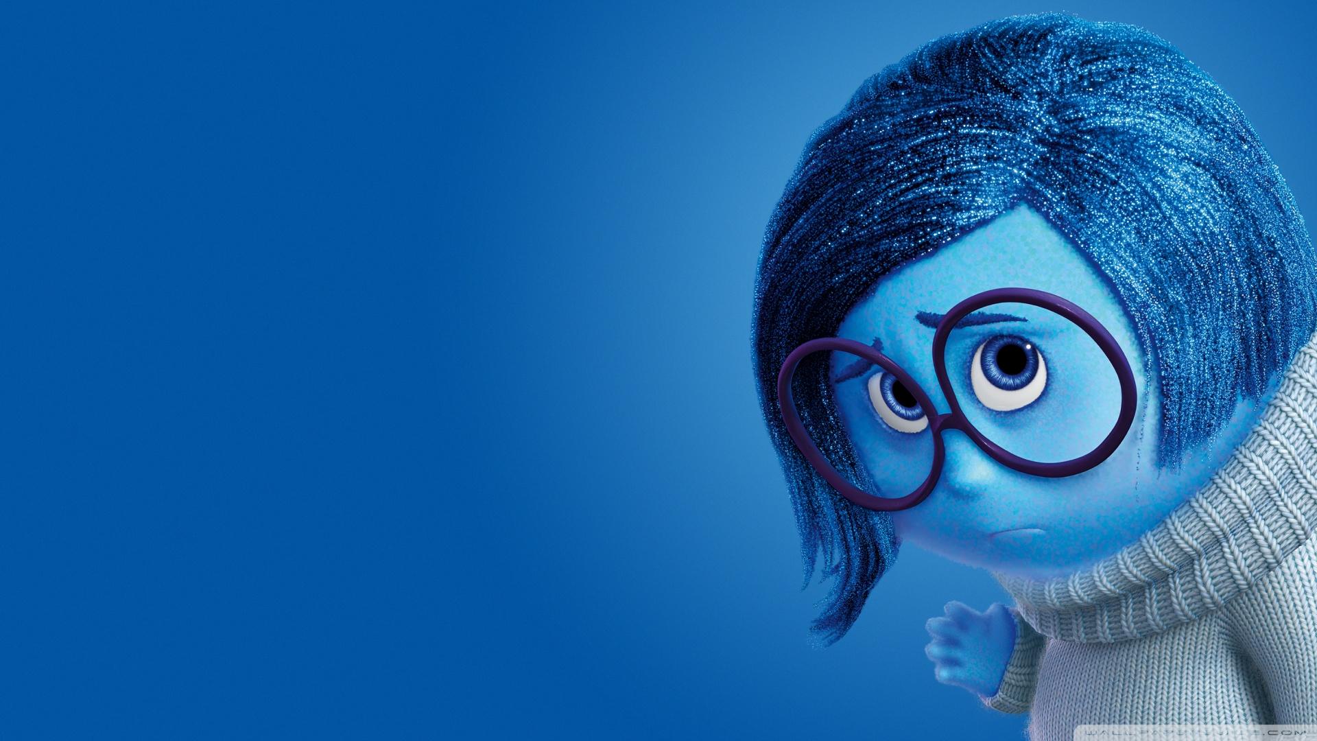 Inside Out Sadness   Disney Pixar 4K HD Desktop Wallpaper for 1920x1080