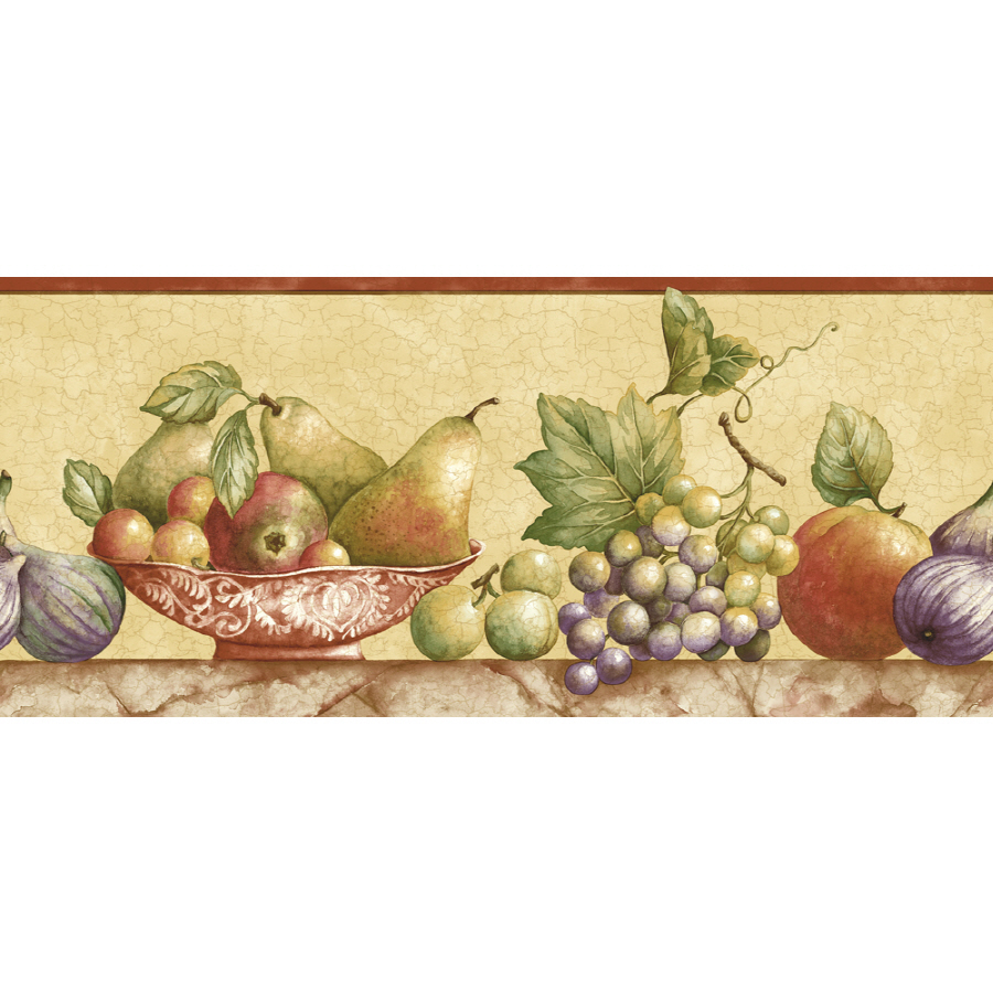 Shop Sunworthy 8 Fruit Watercolor Prepasted Wallpaper Border at Lowes 900x900