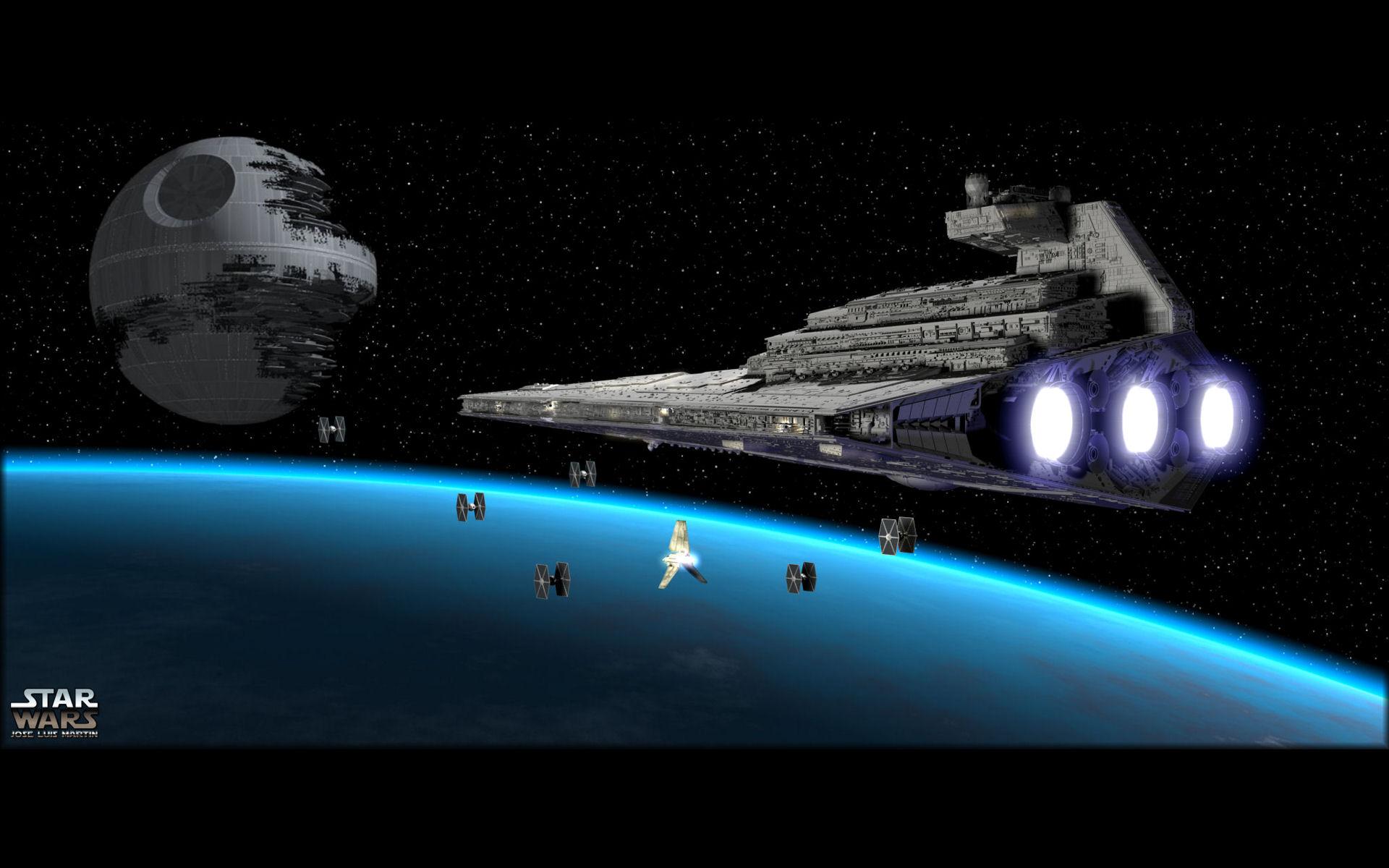 Star Wars Wallpaper 1920x1200 Star Wars Death Star Tie Fighters 1920x1200