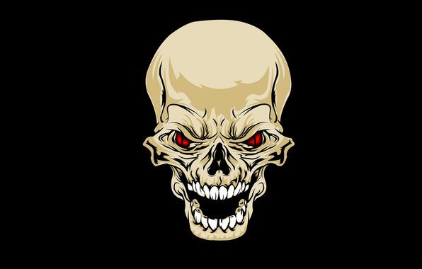Wallpaper skull skull teeth eyes wallpapers minimalism   download 596x380