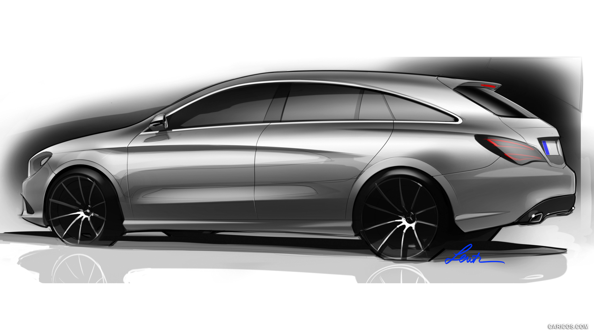 2015 Mercedes Benz CLA Class Shooting Brake   Design Sketch HD 1920x1080