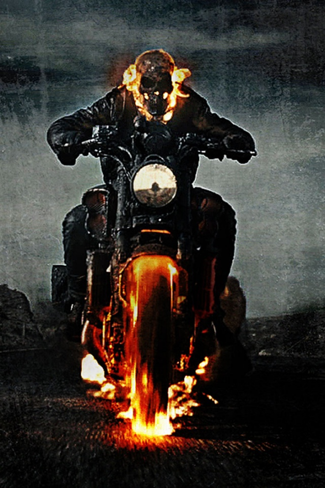 640x960 Ghost Rider Spirit of Vengeance Iphone 4 wallpaper 640x960