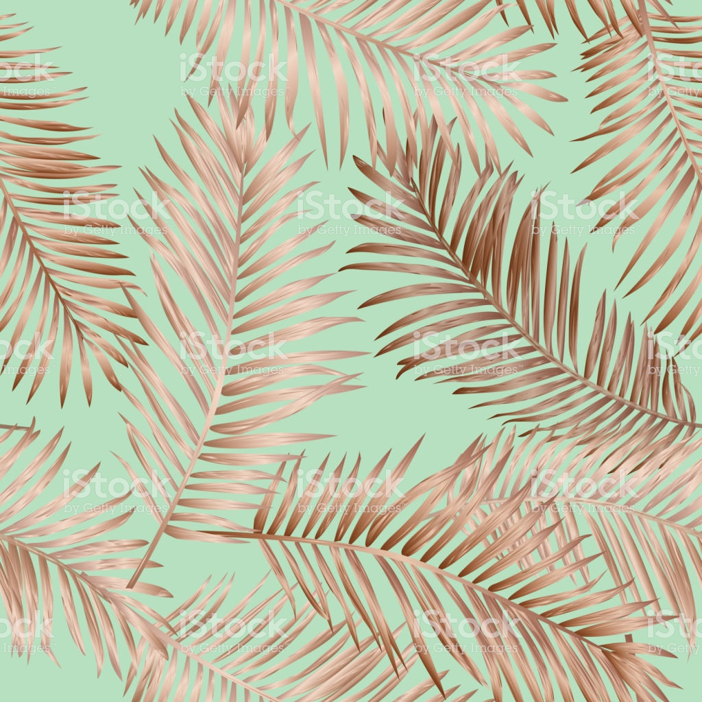 Gold Tropical Palm Leaves Seamless Pattern Exotic Tropic Summer 1024x1024