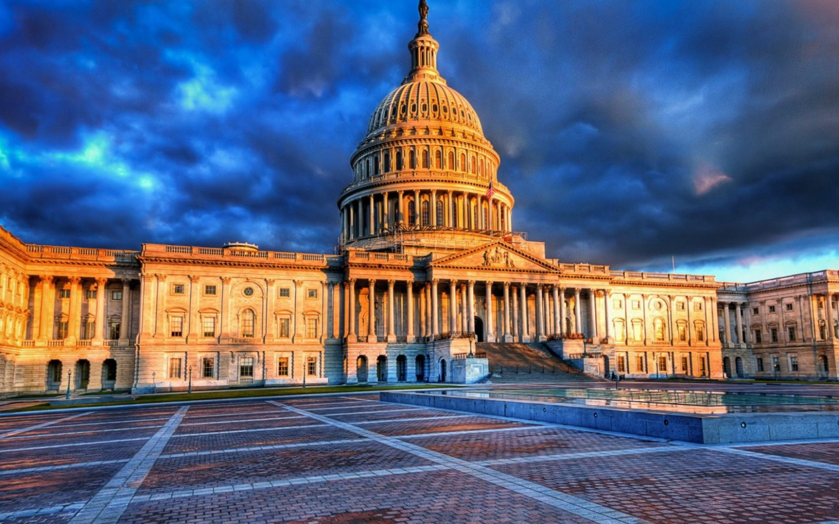 High Definition Wallpaper Of The Home Of United States Congress 1680x1050
