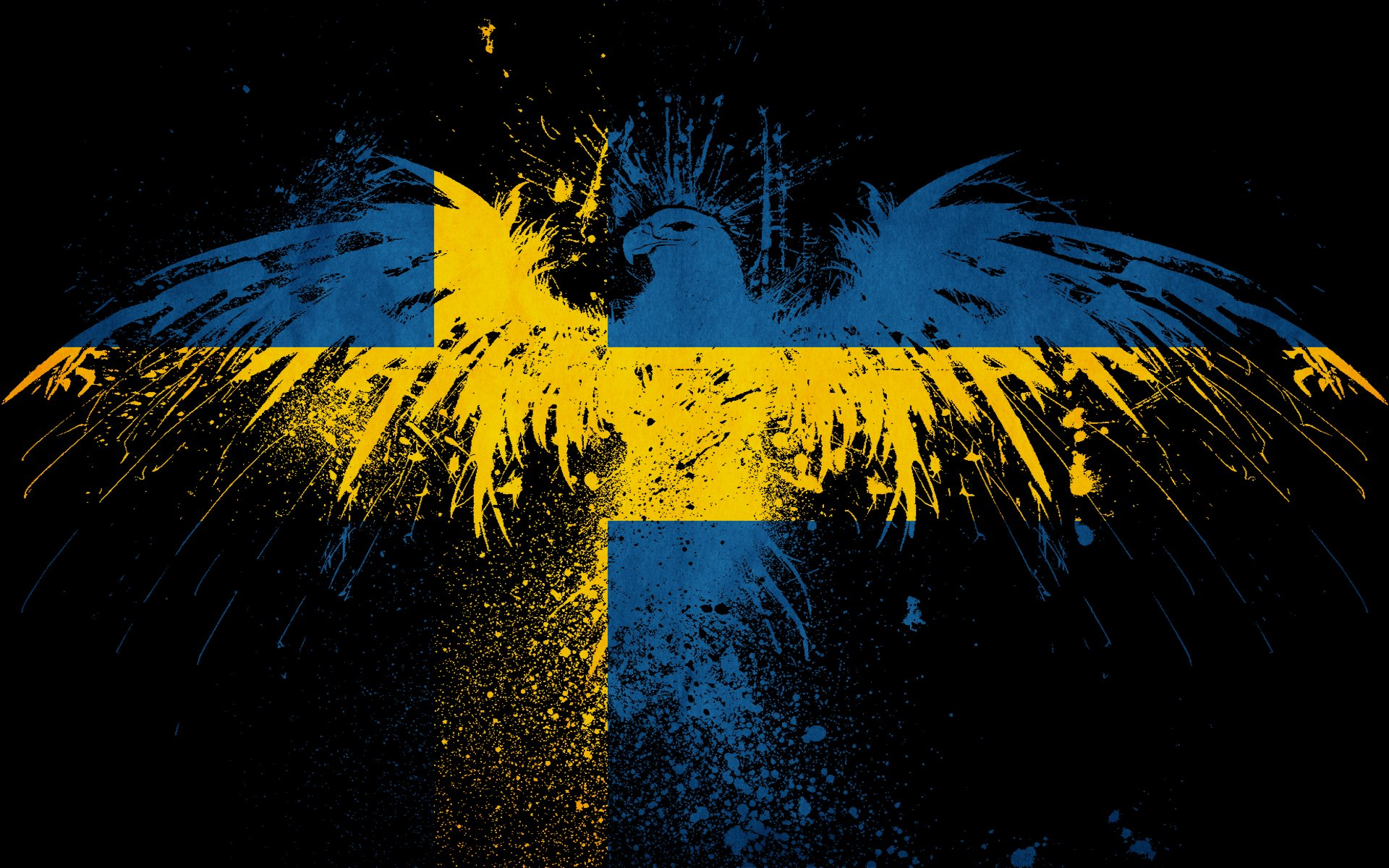 Sweden eagles flags Wallpapers 1920x1200