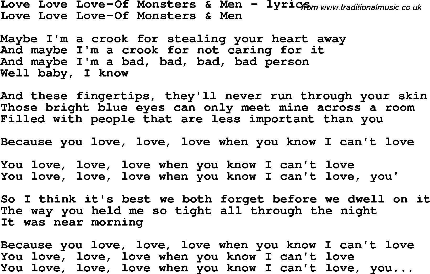 YOUGAKU LYRICS: Lovesong / Amiel