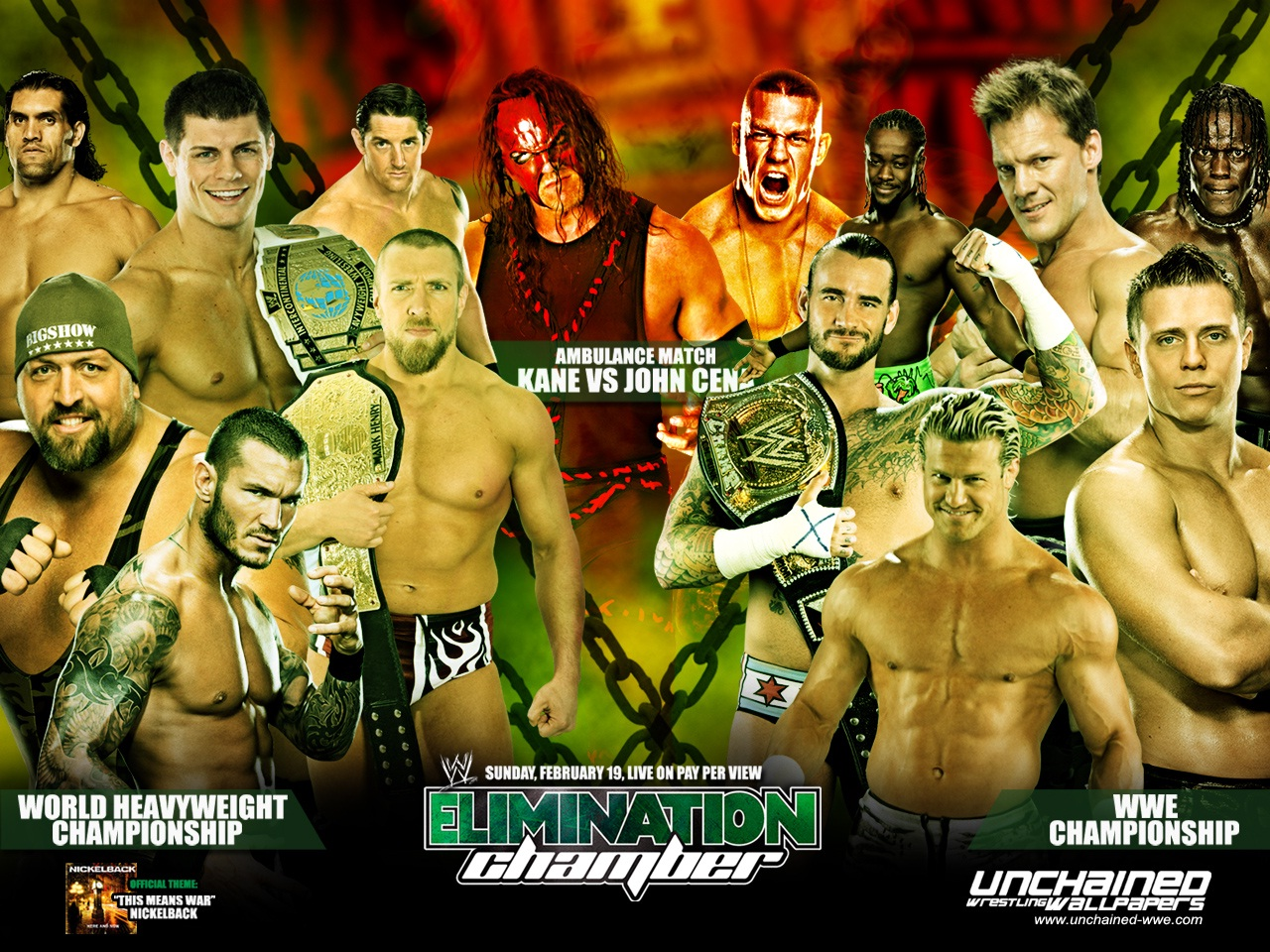 WWE Elimination Chamber 2012 Wallpaper Wallpaper and 1280x960