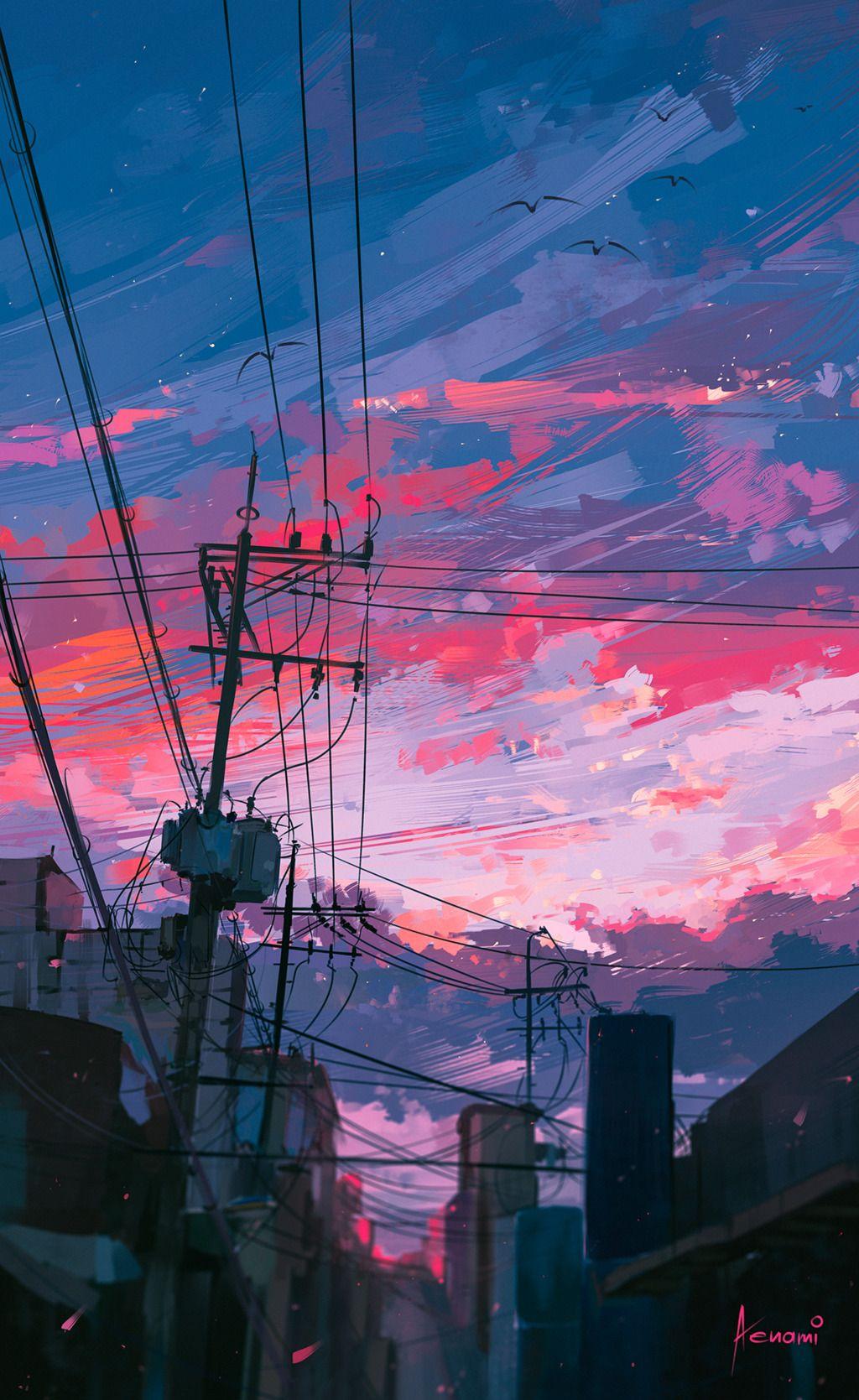 knightofleo Art Anime scenery Aesthetic wallpapers Art 1024x1669