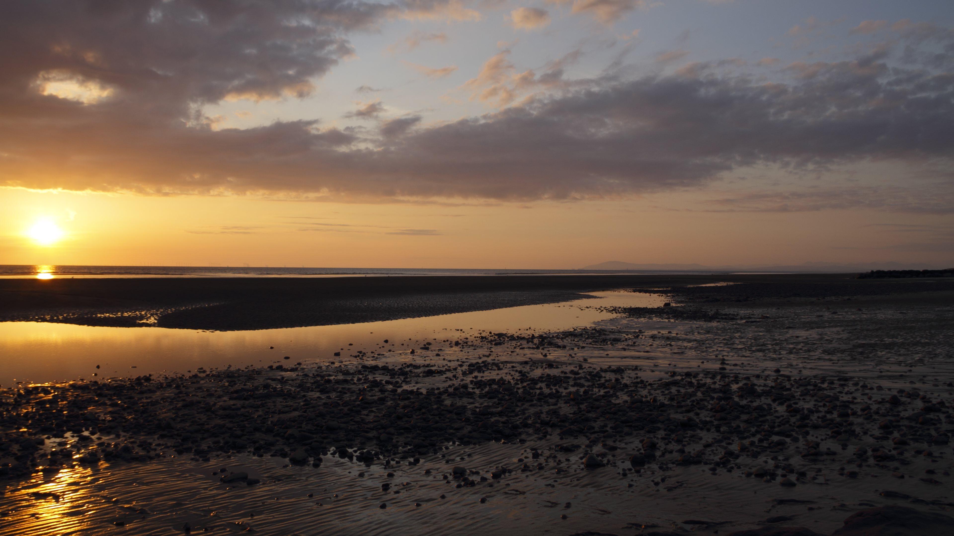 com Beautiful Sunsets over Ocean 4K Wallpaper 3840x2160