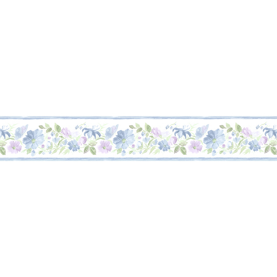 Norwall 5 14 Fluted Floral Prepasted Wallpaper Border at Lowescom 900x900