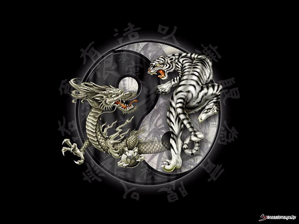 yang dragon yin yang dragon ying yang dragon ying yang dragon ying 1024x768