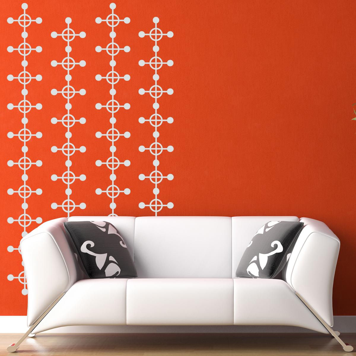 Geometric wallpaper pattern set of 16   Vinyl Wall Decals Stickers 1200x1200