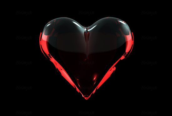 Black Red Love Wallpaper : Image Gallery heart with black background