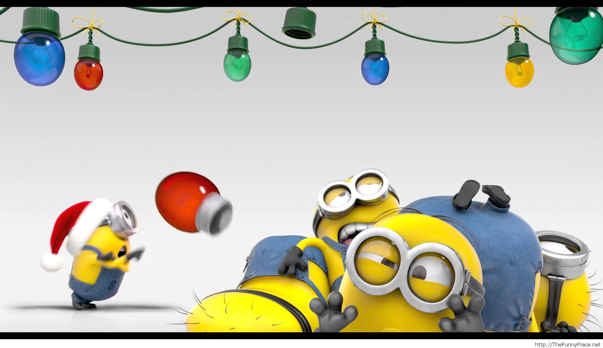 Funny christmas minions wallpaper TheFunnyPlace 1920x1108