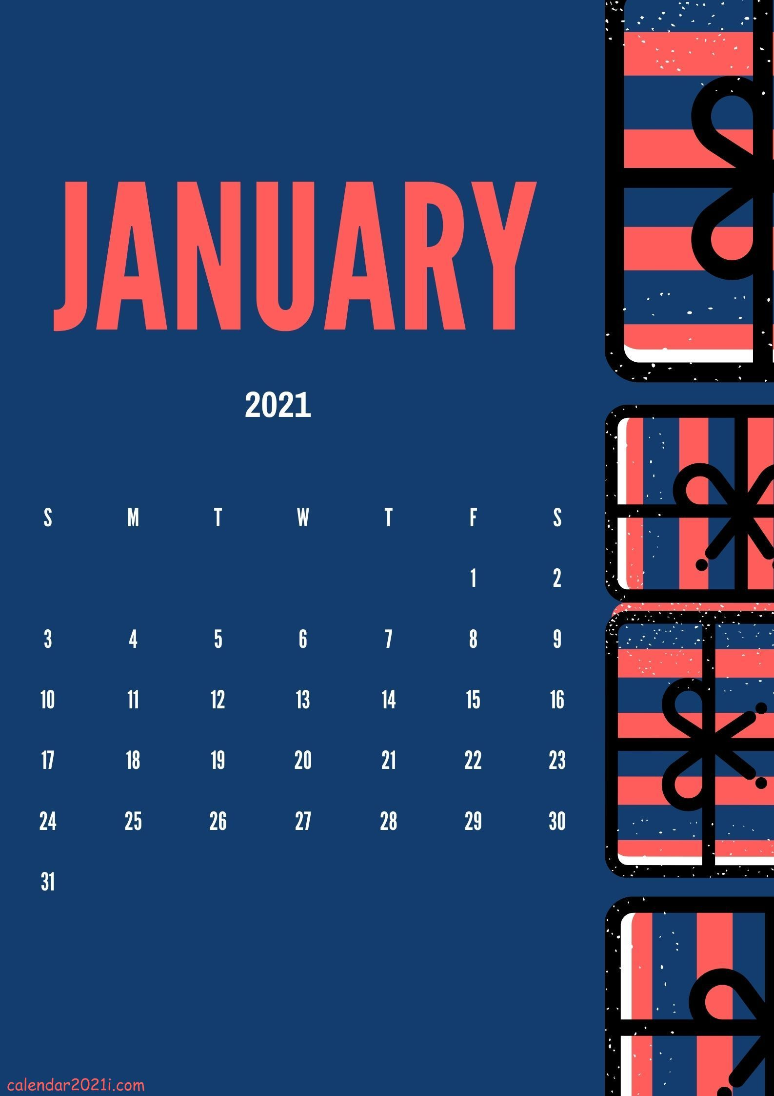 Cute January 2021 calendar design layout DIY ideas Calendar 1587x2245