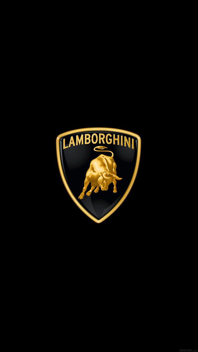 LAMBORGHINI LOGO ART CAR MINIMAL DARK WALLPAPER HD IPHONE Nice 750x1334