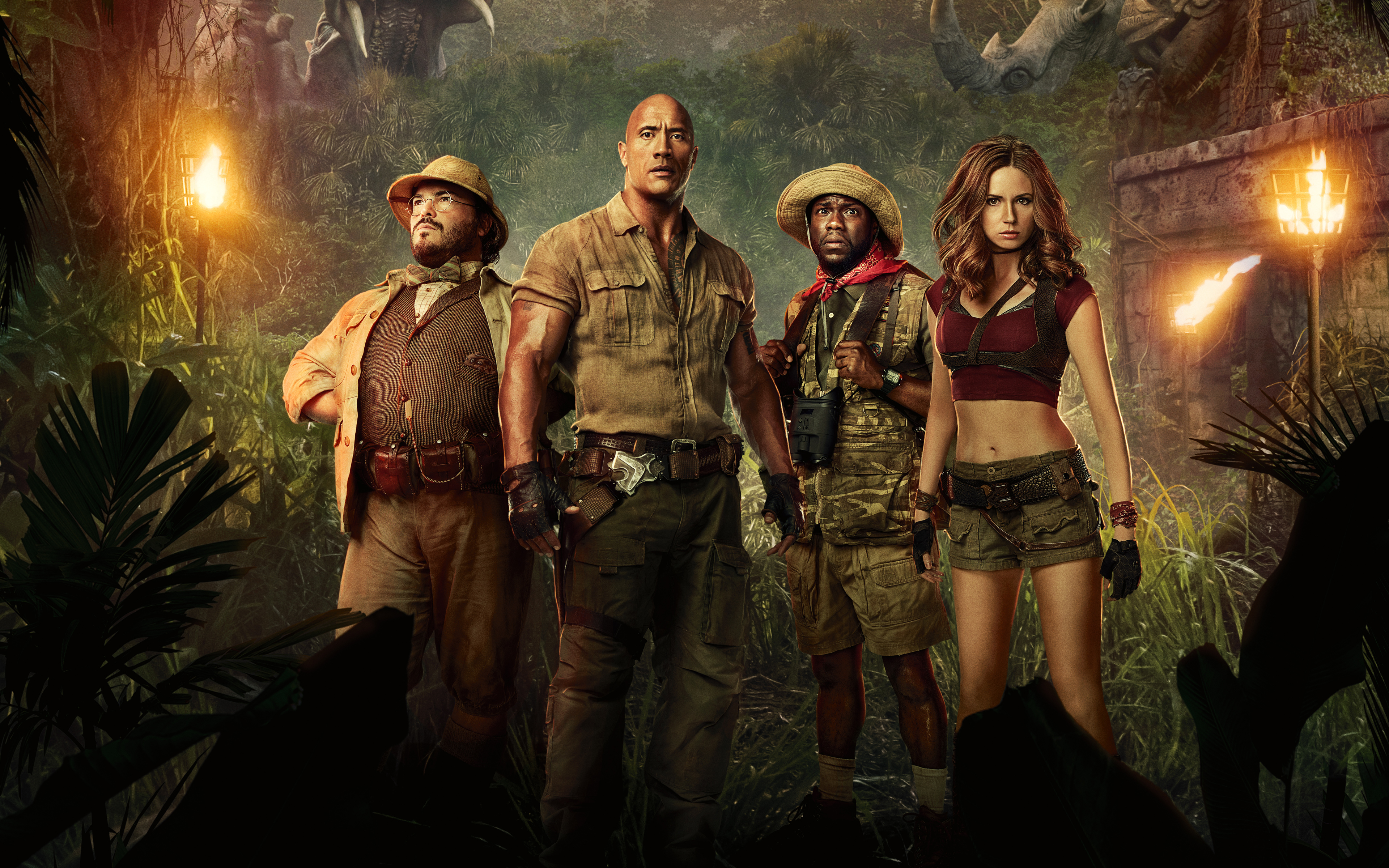 Jumanji Welcome to the Jungle 2017 Movie Wallpapers HD Wallpapers 3840x2400