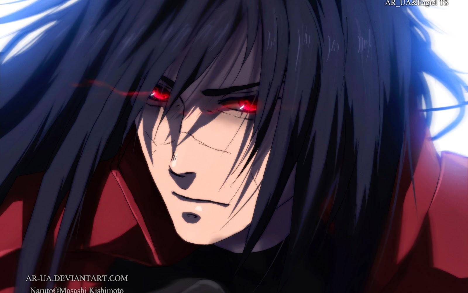 Uchiha Madara Sharingan Eyes Anime Wallpaper HD f09 Male 1600x1000