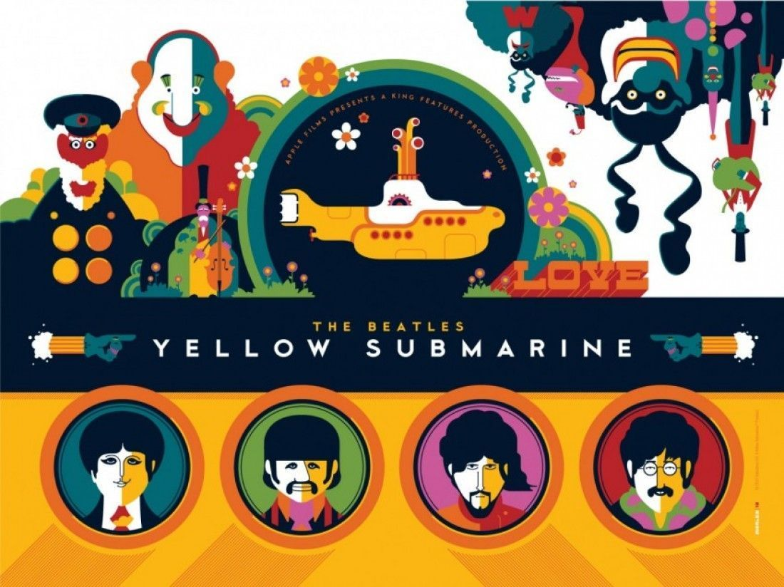 Wallpapers For The Beatles Yellow Submarine Wallpaper 1100x824