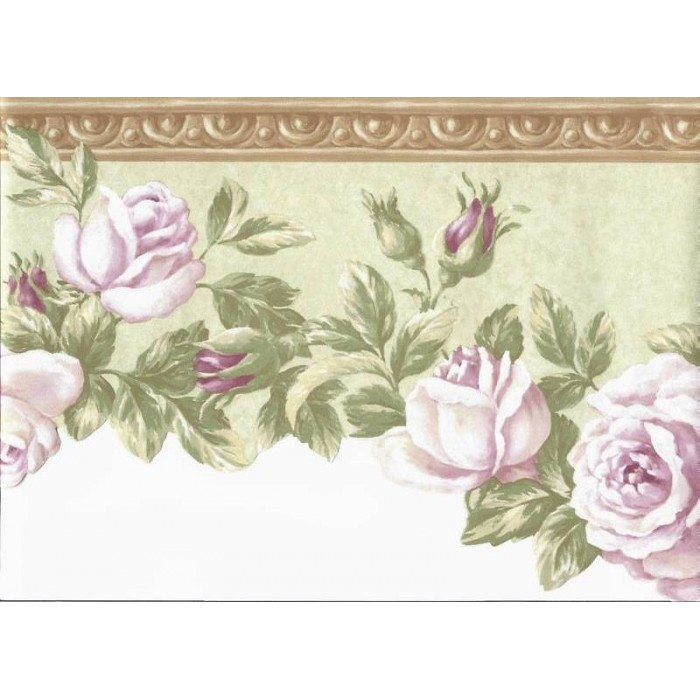 Brown Floral Wallpaper Border 700x700
