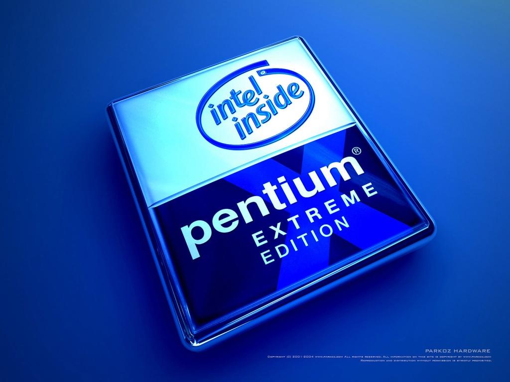 1024x768 Blue Pentium desktop PC and Mac wallpaper 1024x768