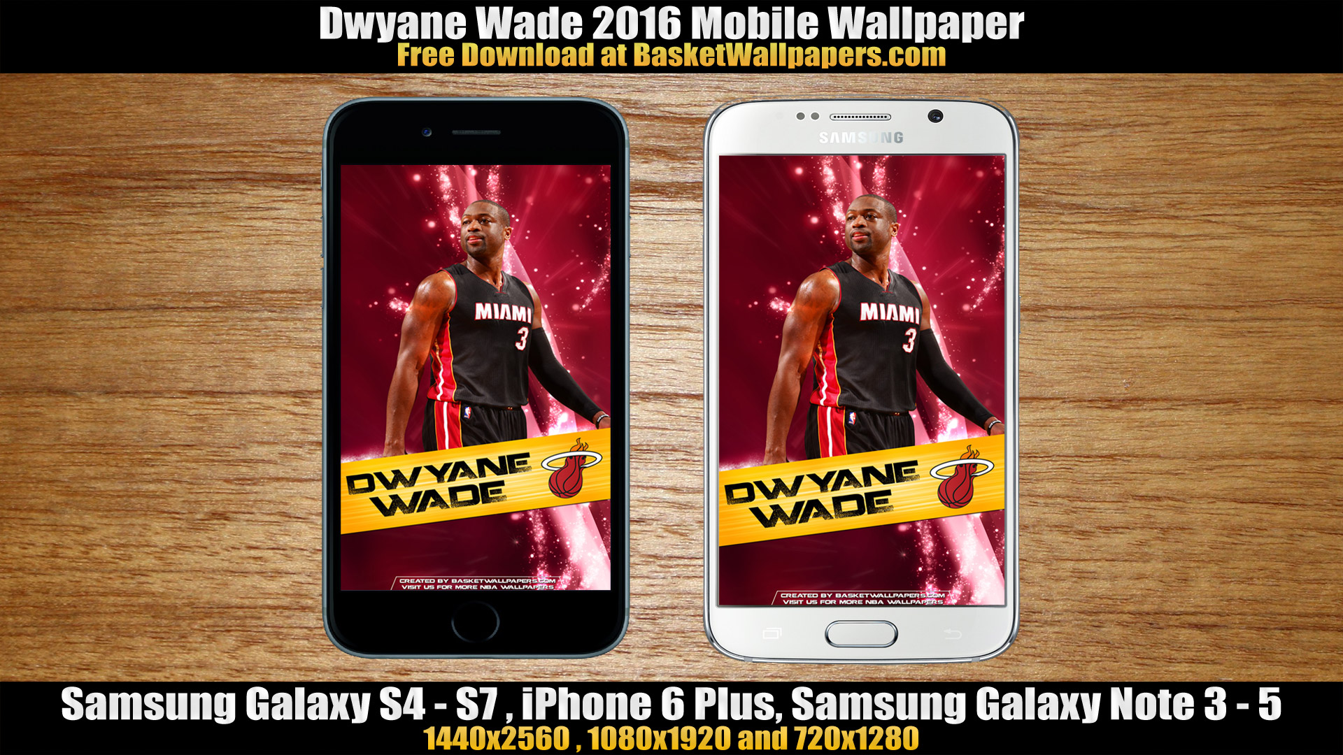Dwyane Wade Miami Heat 2016 Mobile Wallpaper Basketball Wallpapers 1920x1080