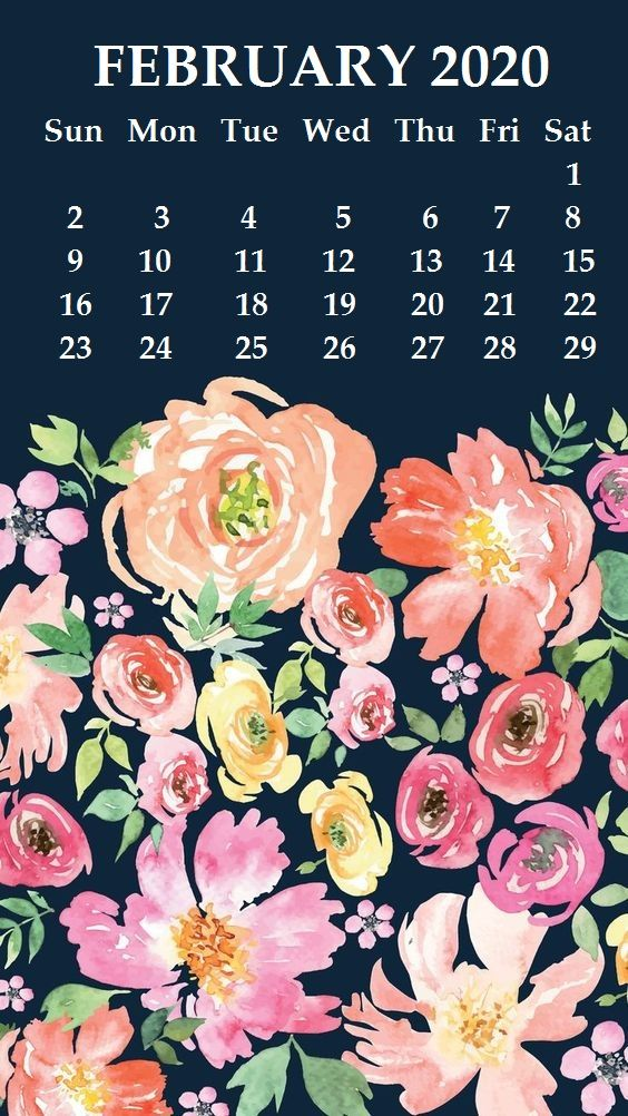 iPhone February 2020 Calendar Wallpaper in 2020 Calendar 564x1002