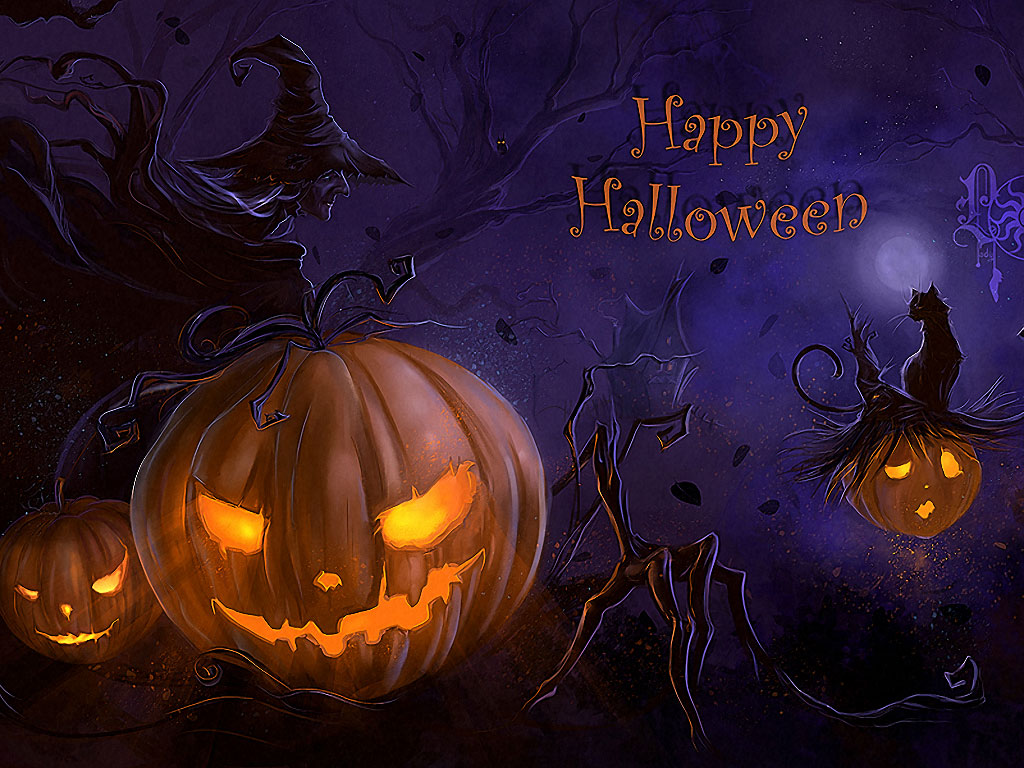 Scary Halloween Backgrounds Wallpaper Collection 2014 1024x768