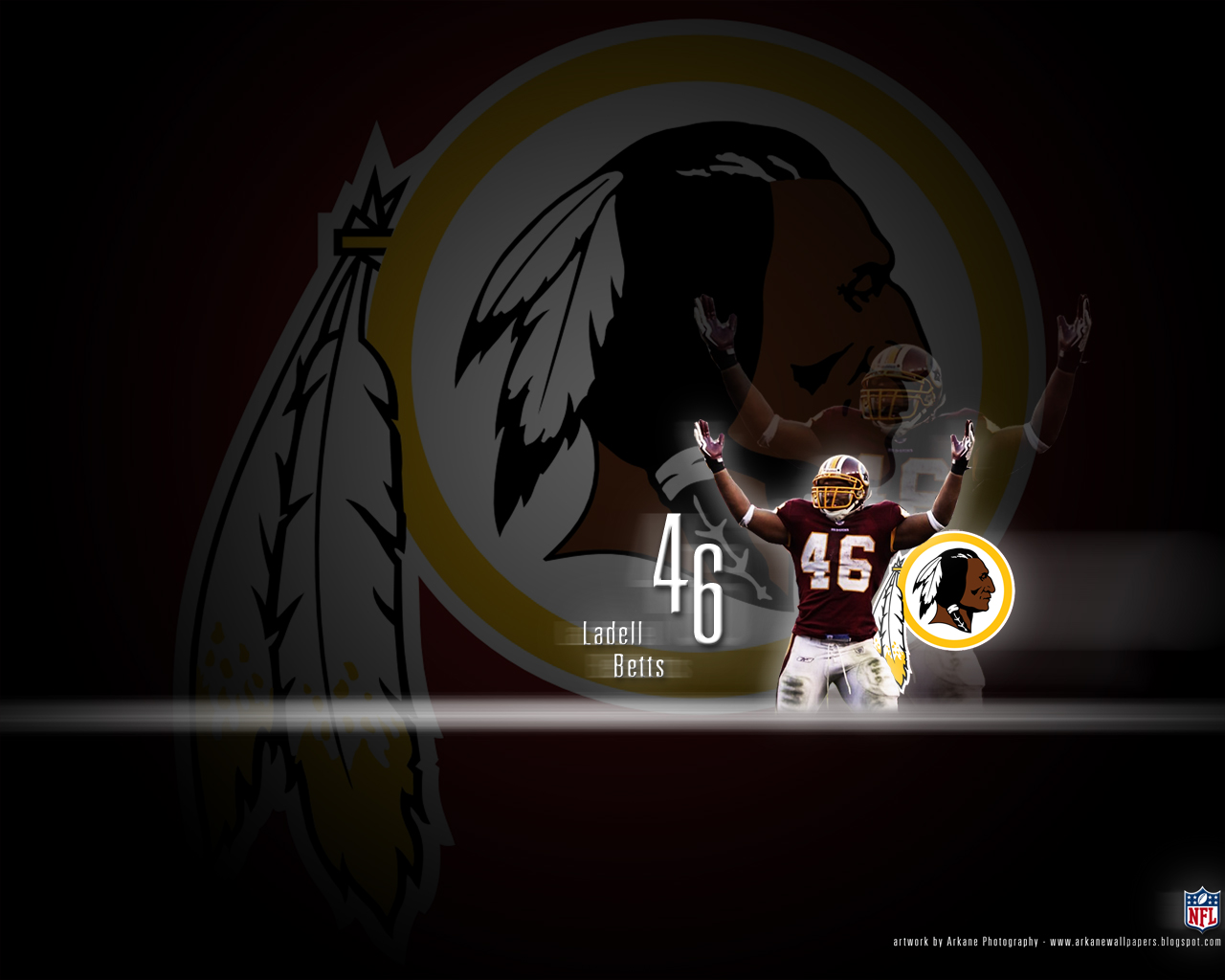 Arkane NFL Wallpapers Ladell Betts   Washington Redskins 1280x1024