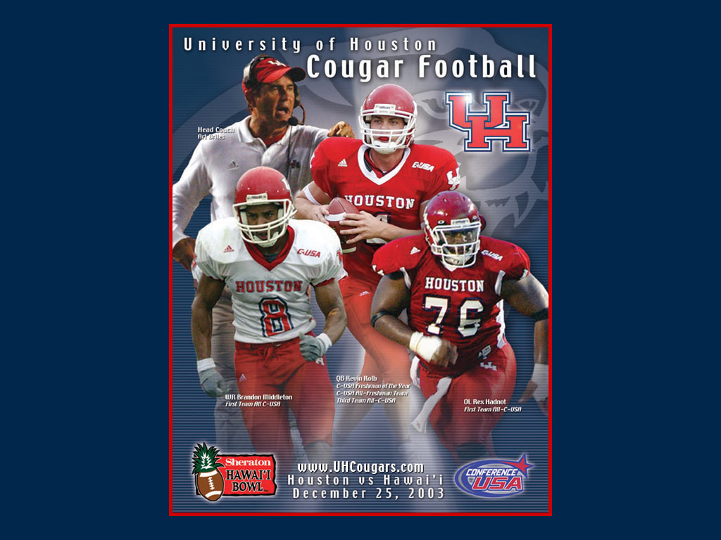 Hawaii Bowl Wallpaper   University of Houston Athletics UH Cougars 1024x768