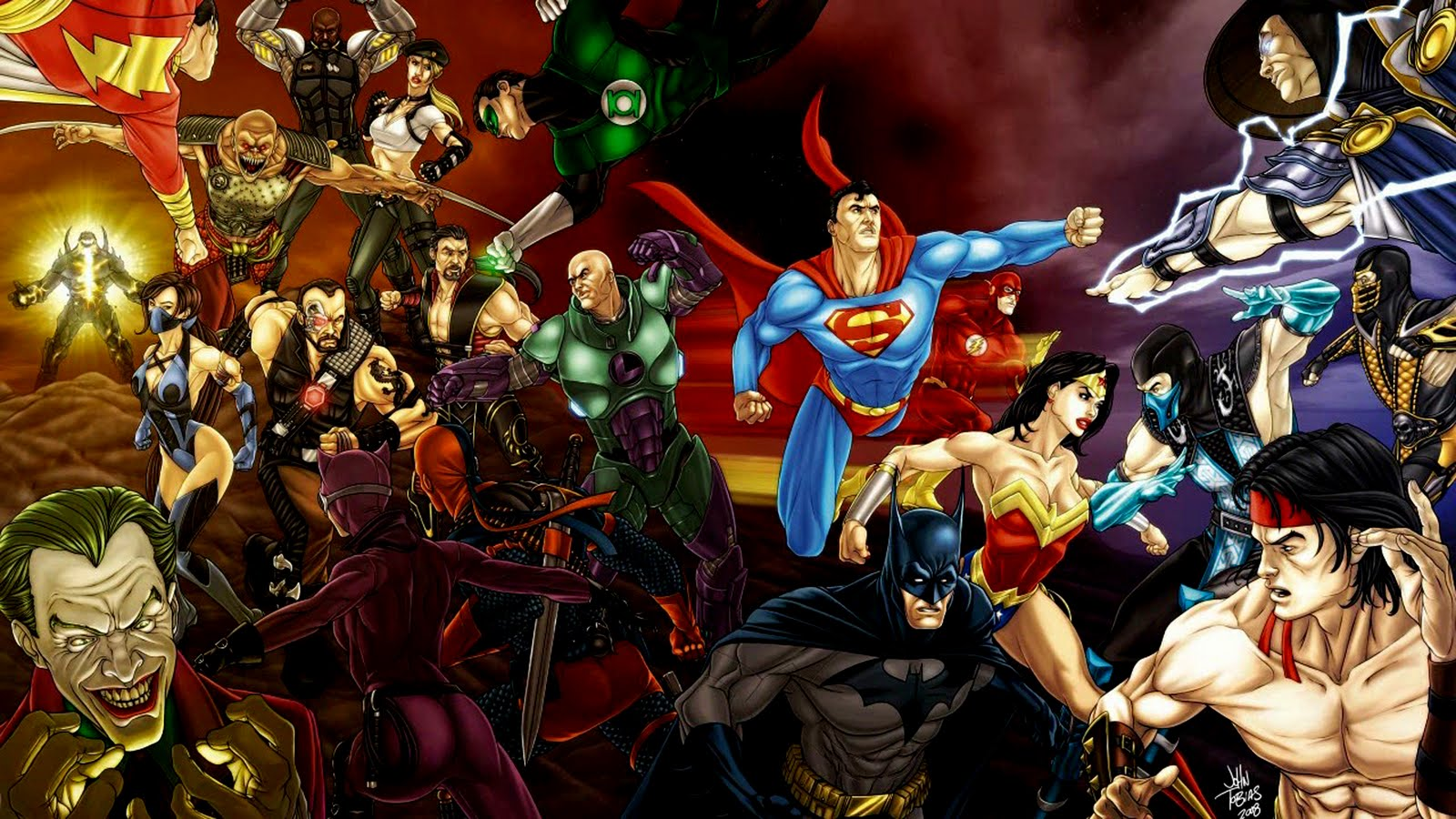DC Comics All Characters HD Desktop Wallpapers Cartoon Wallpapers 1600x900