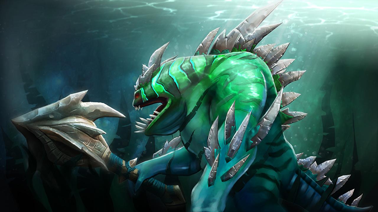 Images DOTA 2 Tidehunter monster Fantasy vdeo game 1280x720