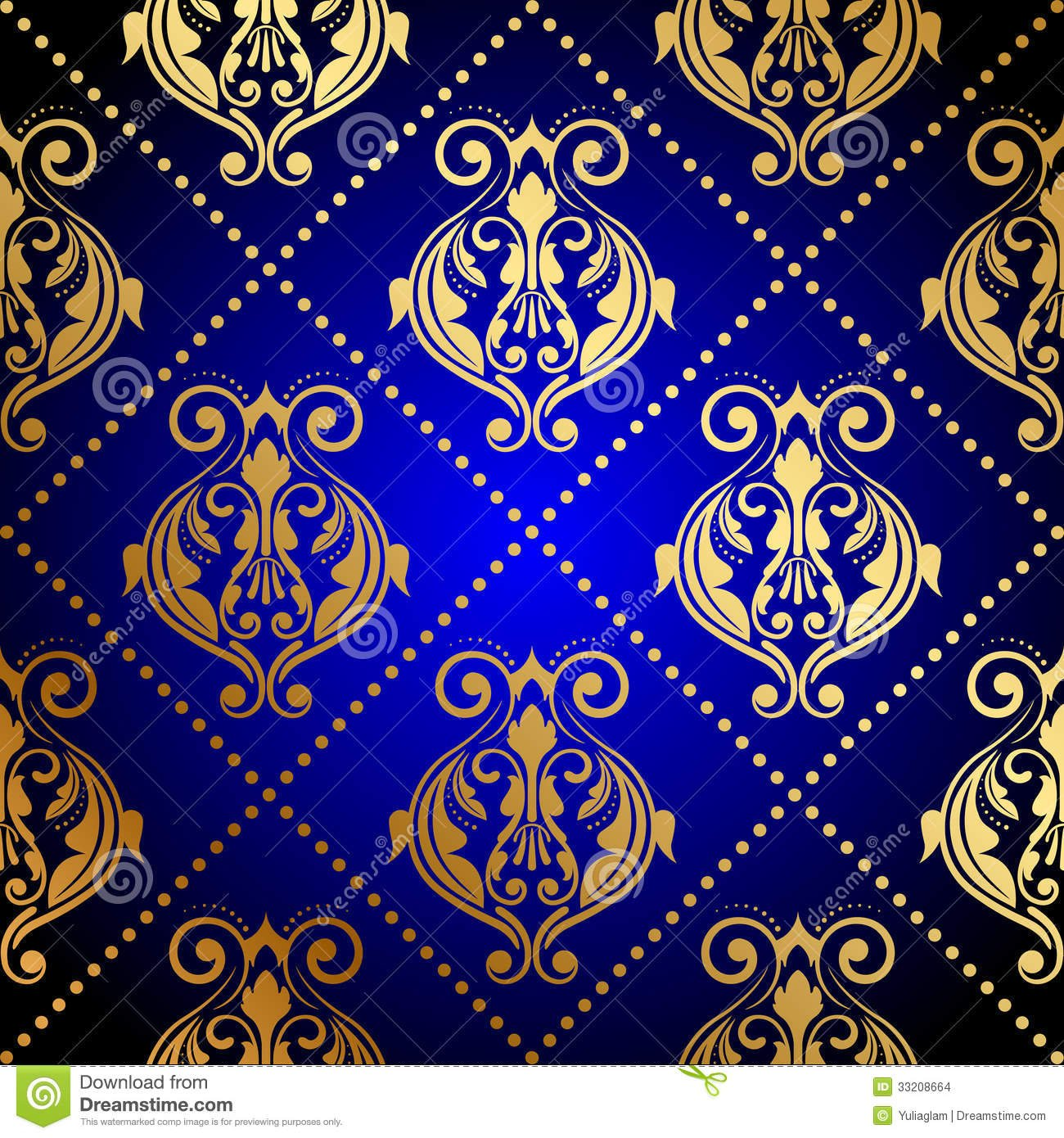 royal blue and gold wallpaper