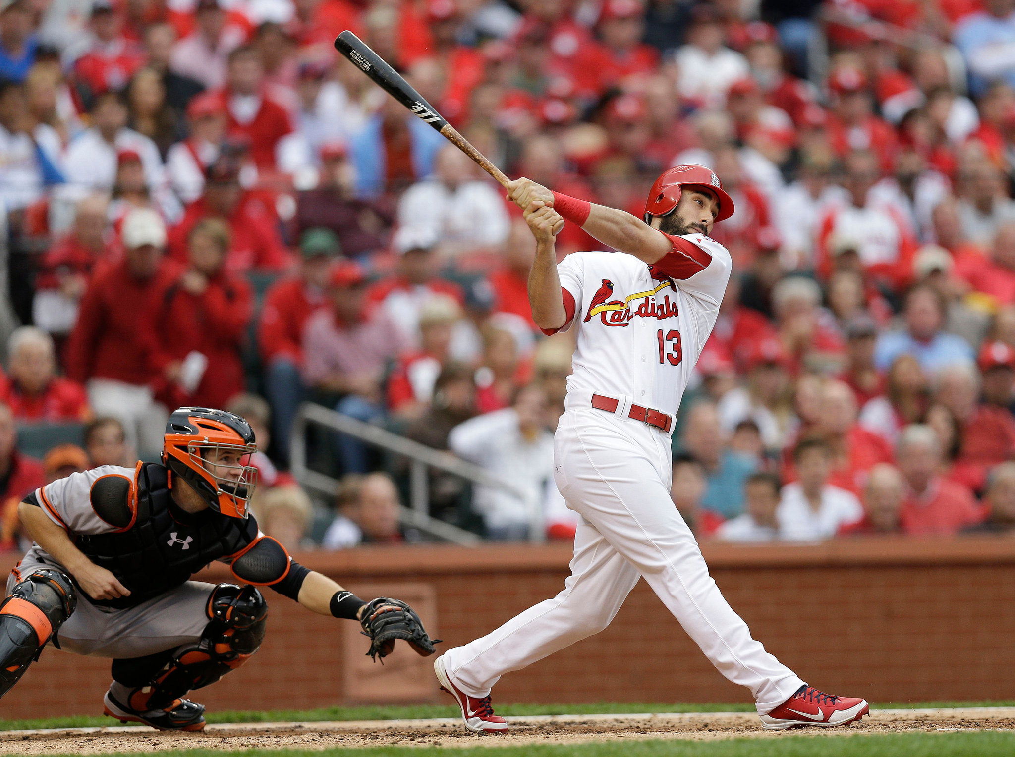 Cardinals Beat Rain and Giants for 2 1 Lead in NLCS   The New 2048x1528