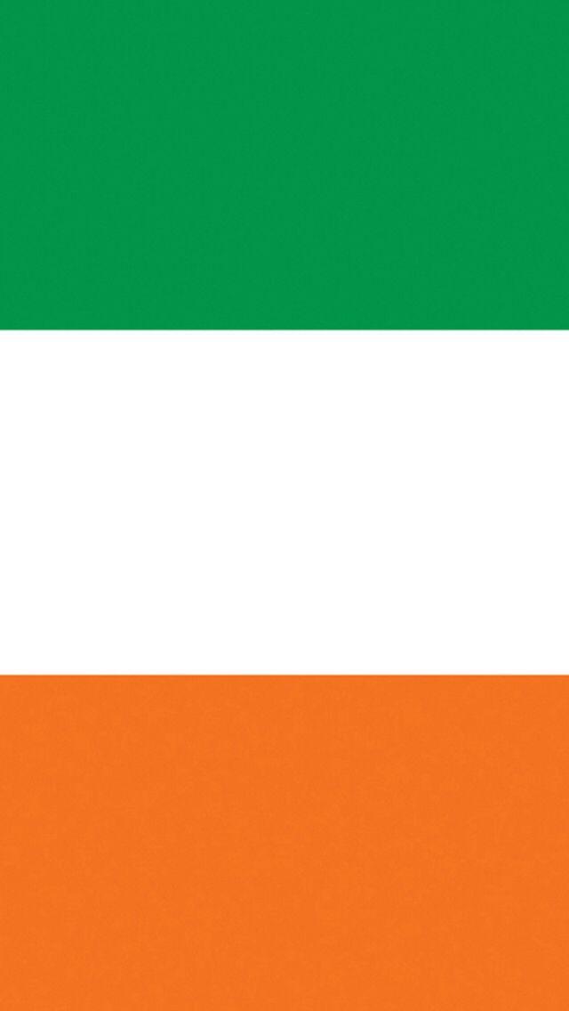 Ireland Irish Flag iPhone 5 5c wallpaper green white orange gold 640x1136