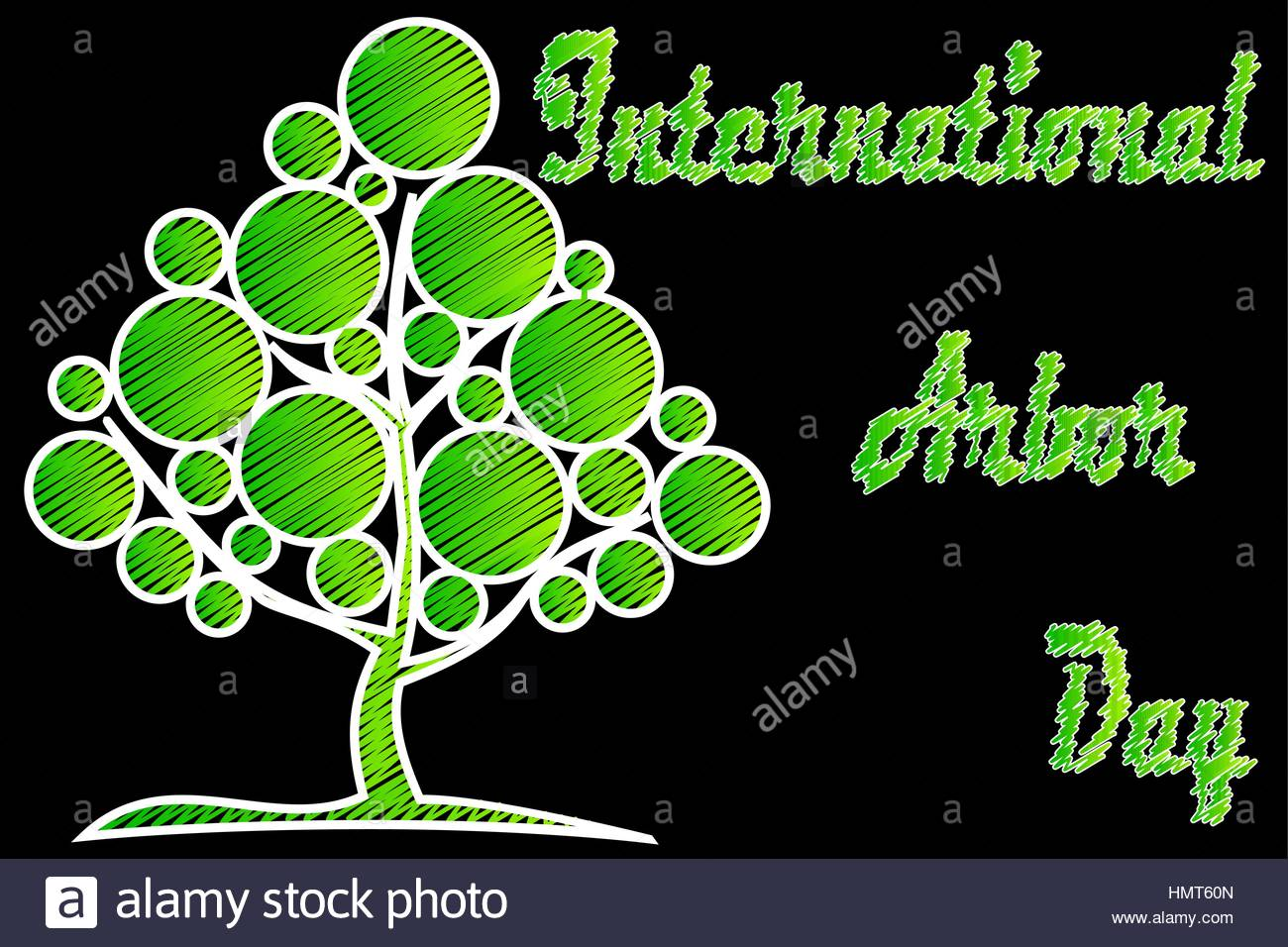 International Arbor Day Natural background Stock Vector Art 1300x956